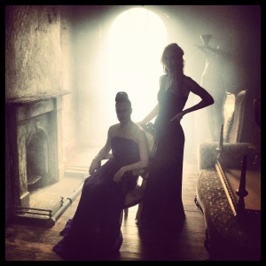 Mariah Gale and Vanessa Kirby during the Three Sisters photo shoot