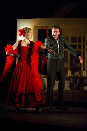 Hattie Morahan and Dominic Rowan in A Doll's House. Photo by Richard Hubert Smith.