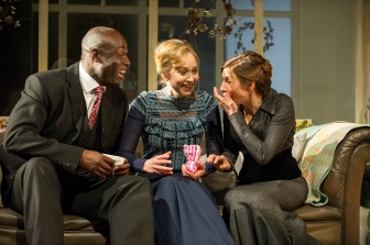 Steve Toussaint, Hattie Morahan and Susannah Wise in A Doll's House. Photo by Richard Hubert Smith