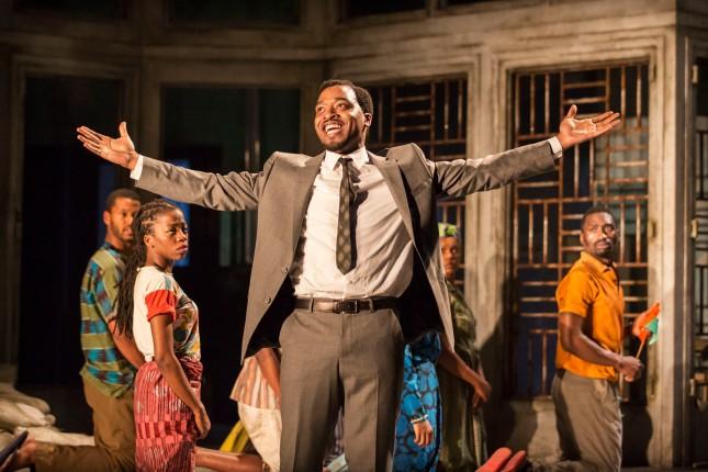 10 A Season in the Congo – Ira Mandela Siobhan, Josépha Madoki, Chiwetel Ejiofor as Patrice Lumumba, Sandra Reid, Oliver Tida Tida. Photo by Johan Persson.