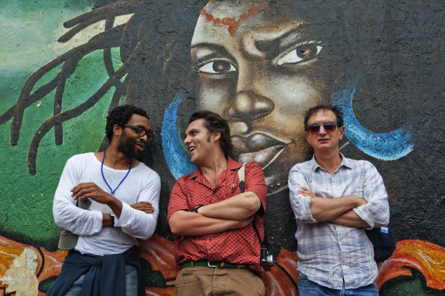 Chiwetel Ejiofor, Joe Wright and Davin Lan visit the Yole Africa in the Democratic Republic of the Congo