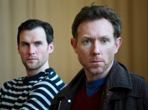 Jonah Russell and Richard Hansell in rehearsals for A View from the Bridge