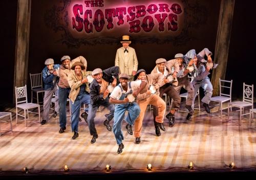 The Scottsboro Boys Company at the Garrick Theatre.