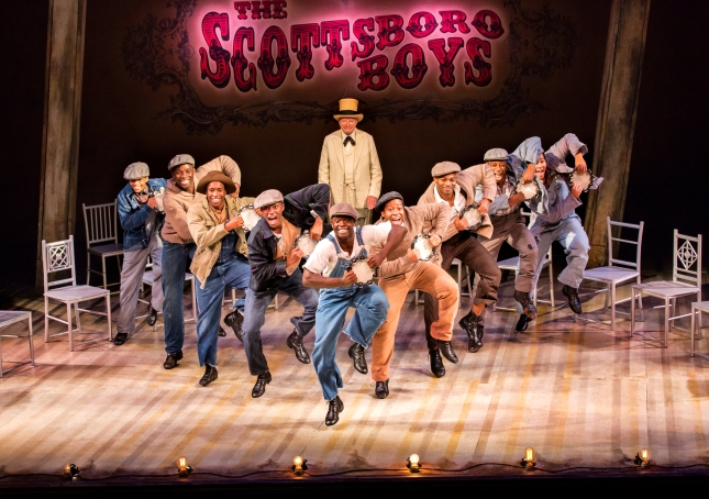 The Scottsboro Boys Company at the Garrick Theatre.