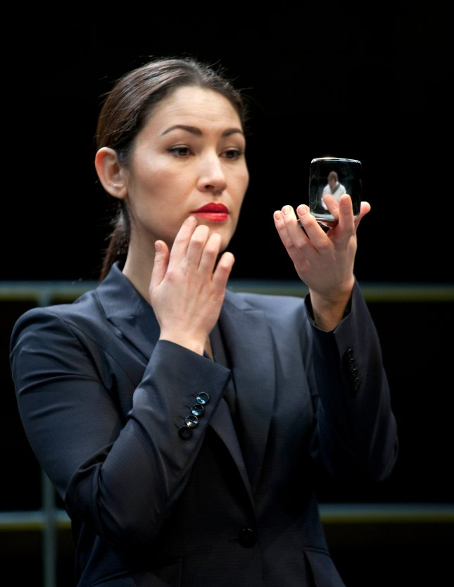 Eleanor Matsuura in Bull at the Young Vic. Photo by Simon Annand