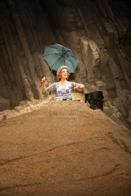 Juliet Stevenson as Winnie in Happy Days at the Young Vic. Photo by Johan Persson.