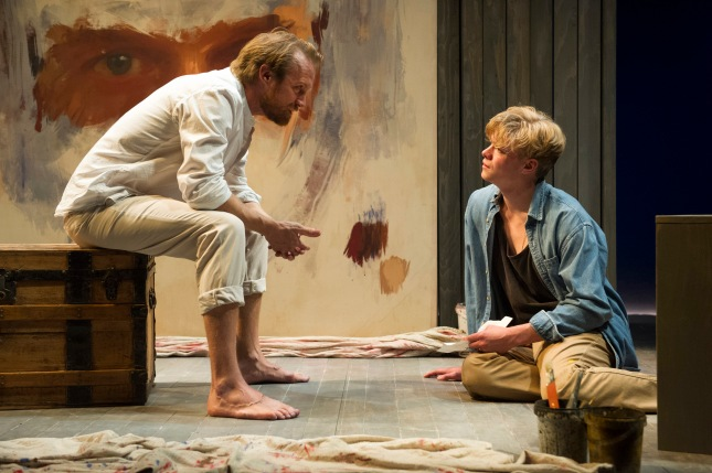Gyuri Sarossy (Gustav) and Tom Rhys Harries (Adolph) in Creditors at the Young Vic.