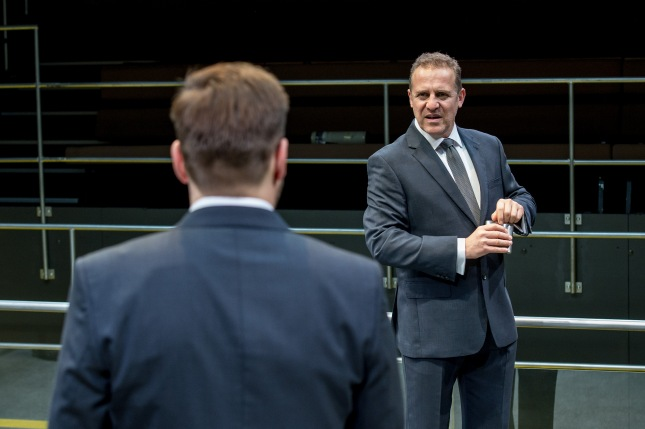 Nigel Lindsay in Bull at the Young Vic. Photo by Manuel  Harlan.