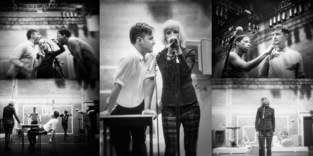 The company in rehearsal for If You Kiss Me, Kiss Me. Photos by Johan Persson.