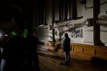 July Namir as LILIANE on set of Astoria. Photo by Leon Puplett.
