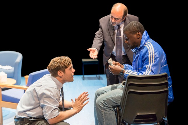 Luke Norris (Bruce), David Haig (Robert) and Daniel Kaluuya (Christopher) in Blue Orange at the Young Vic © Johan Persson.jpg