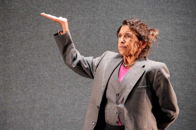 Kathryn Hunter in rehearsal for The Emperor ©  Sarah Leech, HOME Manchester-1