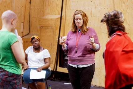 Director Cat Shoobridge in rehearsal. Photos by Leon Puplett.