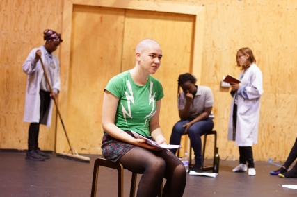 Cast members of Parallel Yerma in rehearsals. Photos by Leon Puplett.
