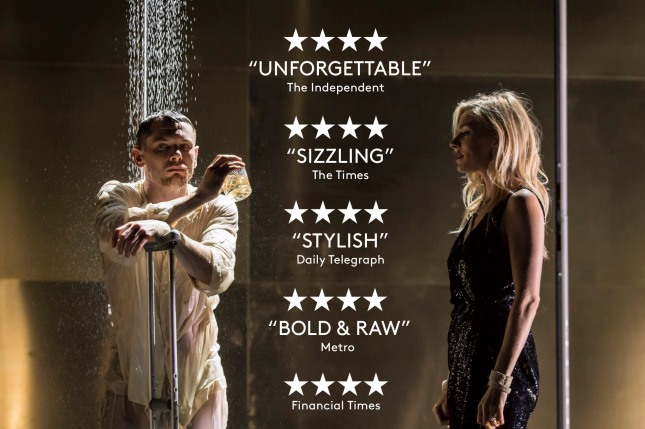 l-r Jack O'Connell (Brick) and Sienna Miller (Maggie)- Cat on a Hot Tin Roof - Photographer credit Johan Persson.jpg