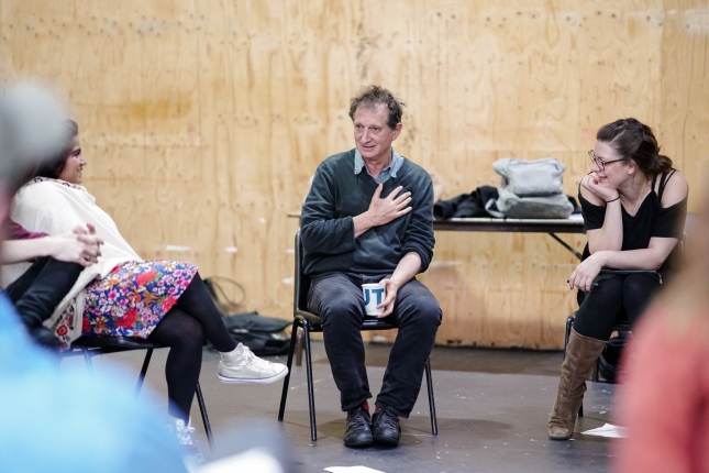 David Lan in a workshop at the Young Vic
