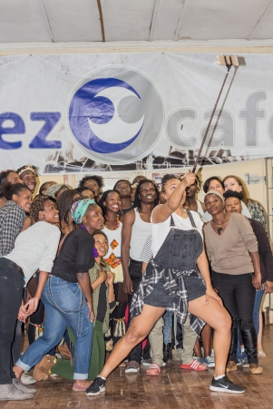 First day at the Bluez Cafe © Mgcini Nyoni