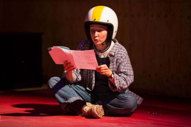 Erin Doherty in My Name is Rachel Corrie at the Young Vic. Photo by Ellie Kurrtz (6).JPG