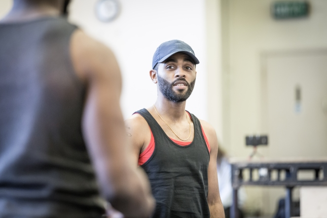 Anthony Welsh in rehearsal for The Brothers Size at the Young Vic © Marc Brenner (2)