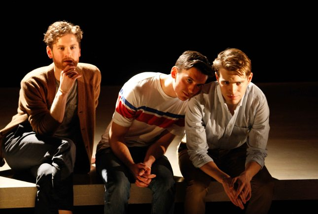 Kyle Soller, Samuel H. Levine and Andrew Burnap in The Inheritance at the Young Vic © Simon Annand