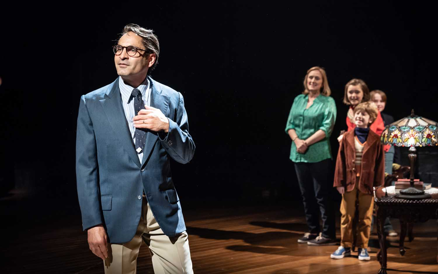 Zubin Varla in Fun Home at the Young Vic. Photo by Marc Brenner