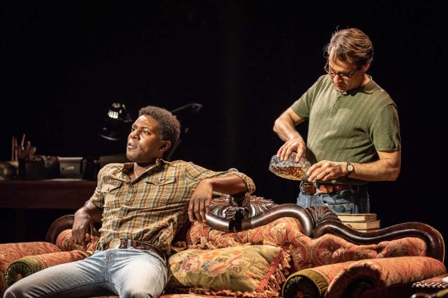 Ashley Samuels and Zubin Varla in Fun Home at the Young Vic. Photo by Marc Brenner