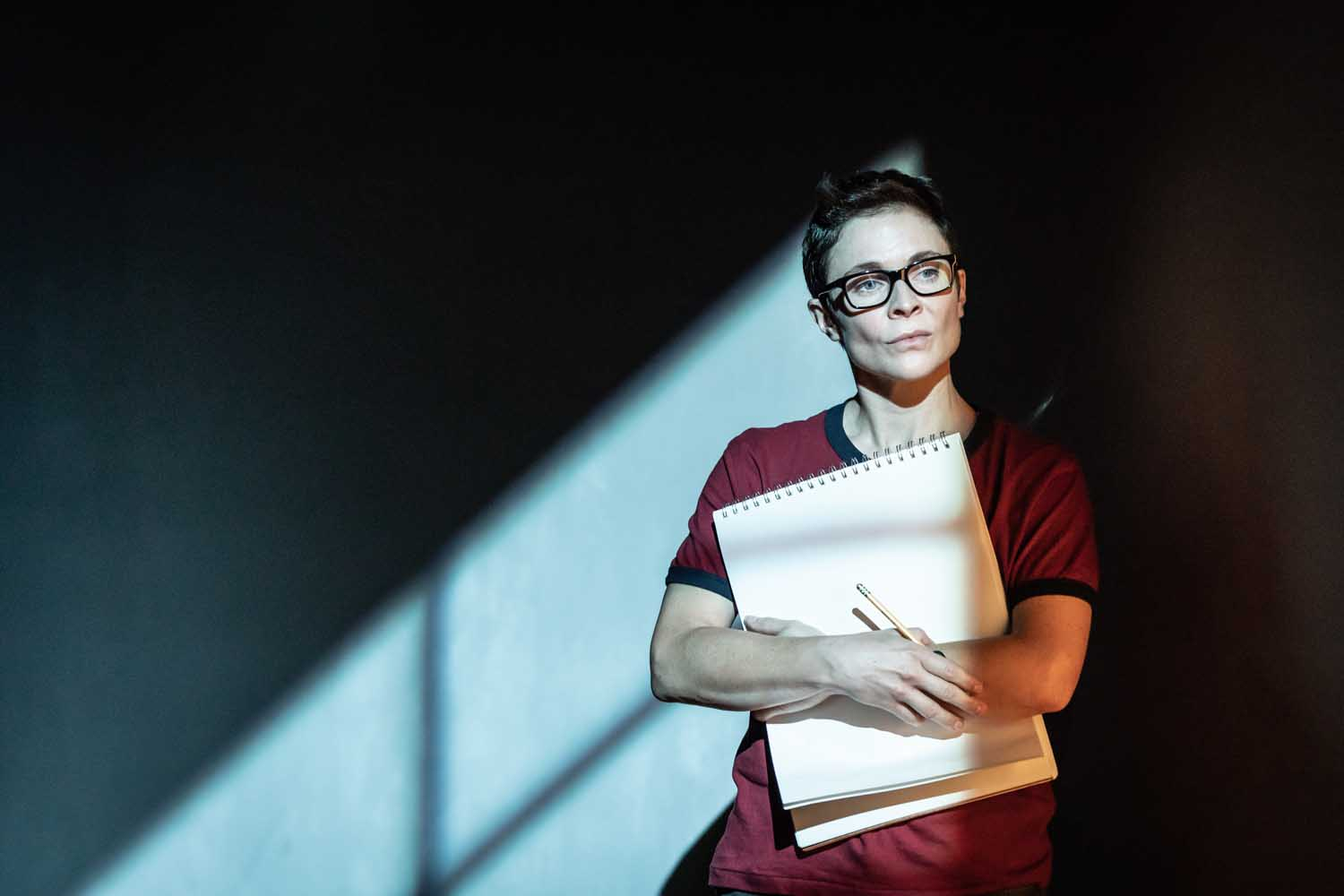 Kaisa Hammarlund in Fun Home at the Young Vic. Photo by Marc Brenner