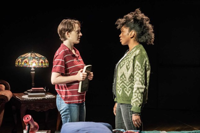 Eleanor Kane and Cherrelle Skeete in Fun Home at the Young Vic. Photo by Marc Brenner