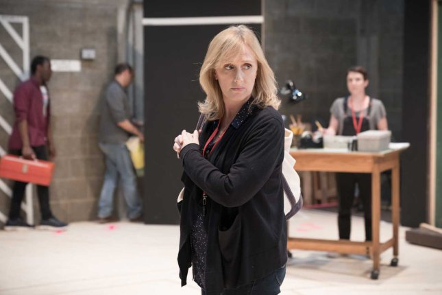 Jenna Russell in rehearsal for Fun Home at the Young Vic. Photo by Marc Brenner (2)