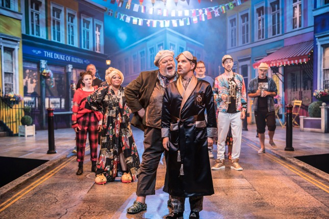 Martyn Ellis and Gerard Carey in Twelfth Night. Photography by Johan Persson