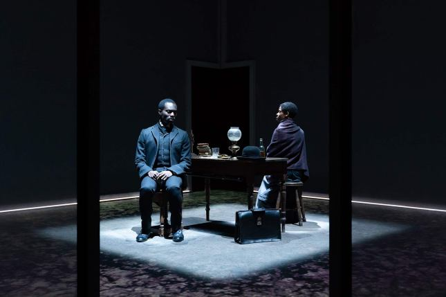 Paapa Essiedu and Letitia Wright in The Convert. Photography by Marc Brenner