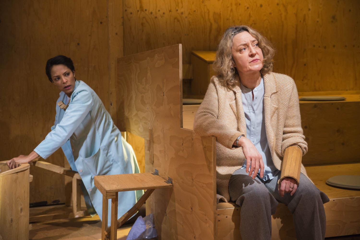Kemi-Bo Jacobs & Lucy Briers in Wild East at the Young Vic. Photo by Gabriel Mokake.
