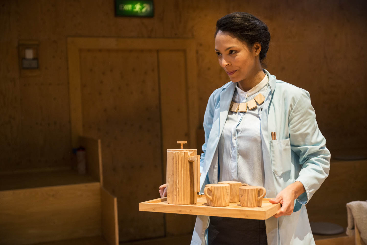 Kemi-Bo Jacobs in Wild East at the Young Vic. Photo by Gabriel Mokake.
