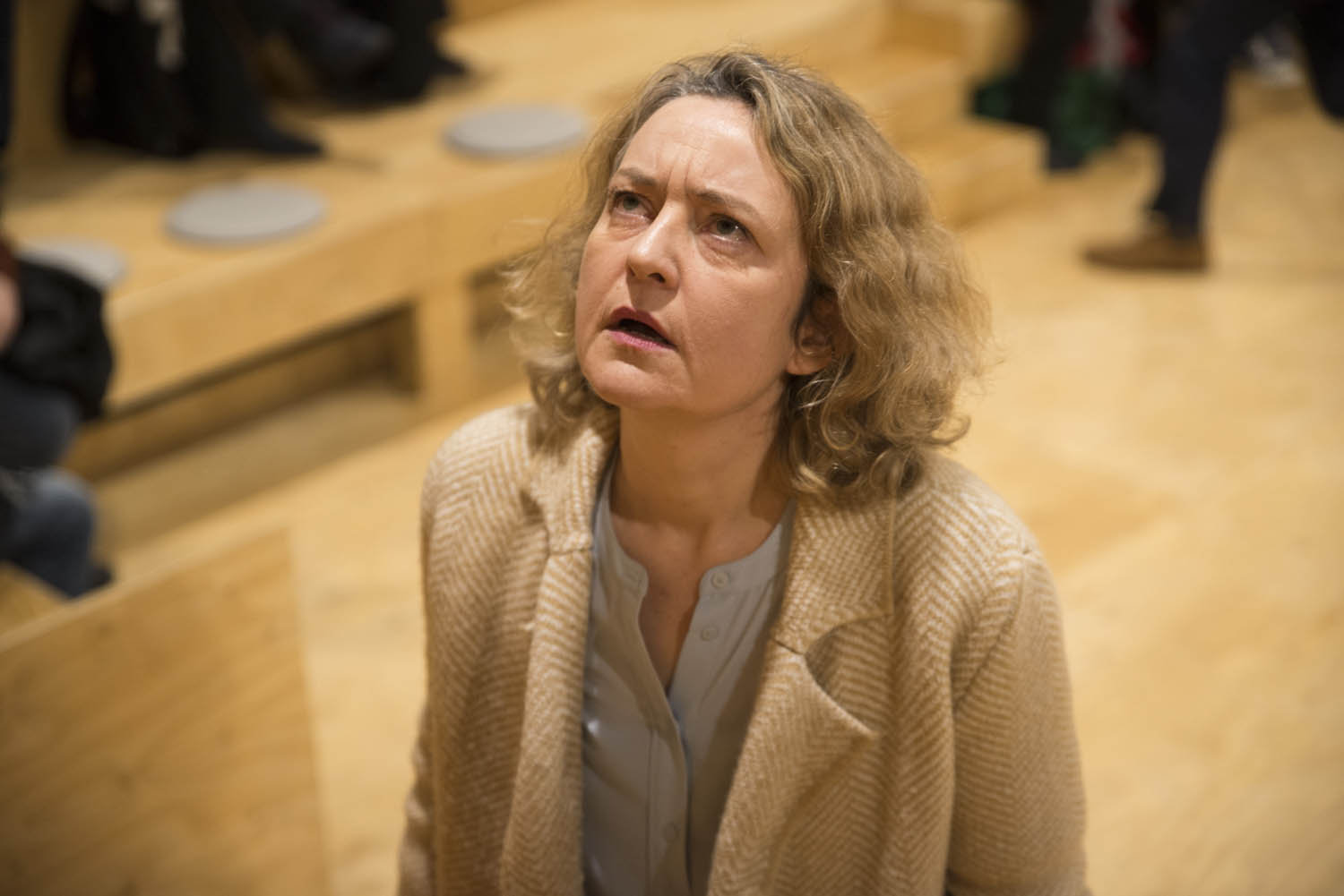 Lucy Briers in Wild East at the Young Vic. Photo by Gabriel Mokake.